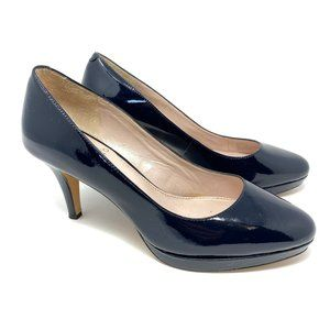 Vince Camuto Navy Blue Patent Leather Classic Heel